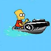 Игра Игра Симпсоны: преследование на лодке