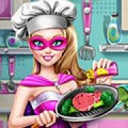 Игра Игра Супер Барби готовка