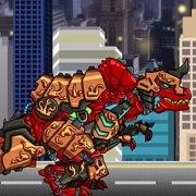 Игра Игра Роботы динозавры: собирать красного Тираннозавра