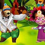 Игра Игра Одевалки Маша и Медведь: карнавал