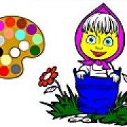 Игра Игра Раскраски: Маша в цветах