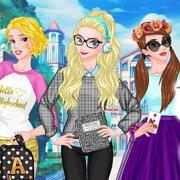 Игра Игра Принцессы Диснея назад в школу: модные тренды