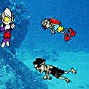 Игра Игра Ультрамен убивает зомби