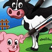 Игра Игра Раскраска свиньи, коровы и барашка