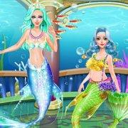 Игра Игра Одевалки: Макияж русалочки на День Рождения