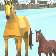 Игра Игра Симулятор Семьи Лошади Зимой
