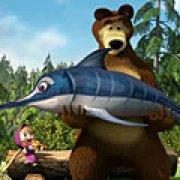 Игра Игра Маша и Медведь: рыбалка