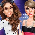 Игра Игра Одевалки: Ариана и Тейлор Свифт на вручении наград