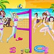 Игра Игра Принцессы Диснея против Монстр Хай: волейбол