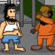Игра Игра Драка Хобо в тюрьме