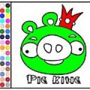 Игра Игра Король плохих свиней: раскраска