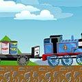 Игра Игра Паровоз Томас перевозит краску