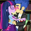 Игра Игра Девушки Эквестрии: Твайлайт и Флэш поцелуи