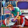 Игра Игра Лечить Деда Мороза в больнице
