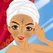 Игра Игра Индийская девушка: макияж лица